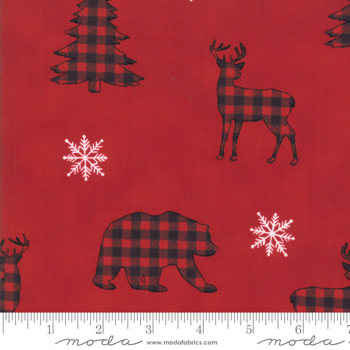 Holiday Lodge - Animals Berry Red
