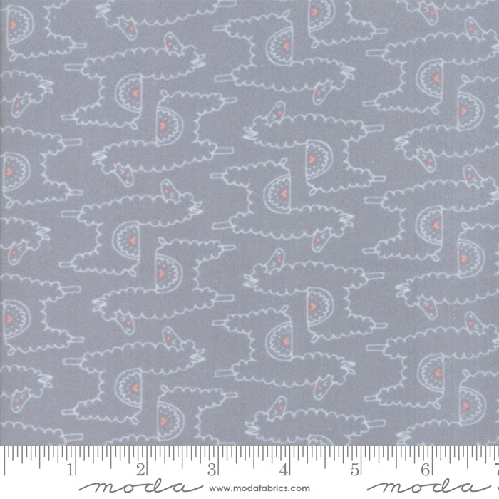 Soft & Sweet Flannel - Llamas Grey