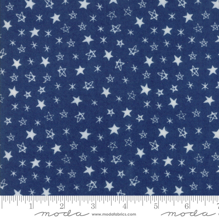Soft & Sweet Flannel - Stars Blue