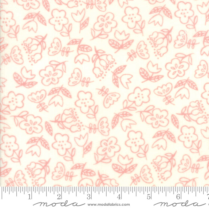 Soft & Sweet Flannel - Flowers Cream