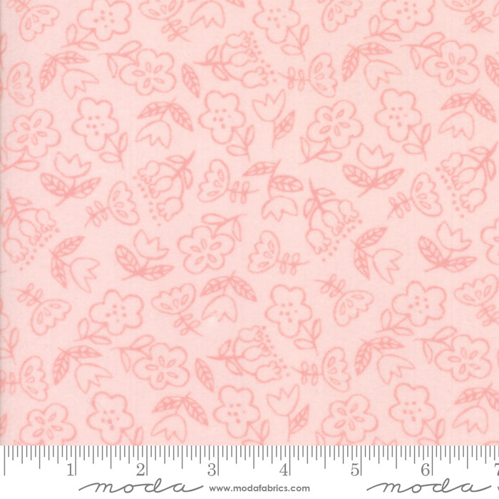 Soft & Sweet Flannel - Flowers Pink