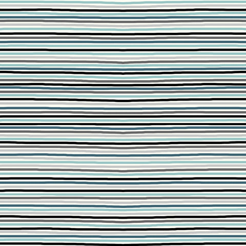 Stof- Tiny Stripe Multi Blue | Knit