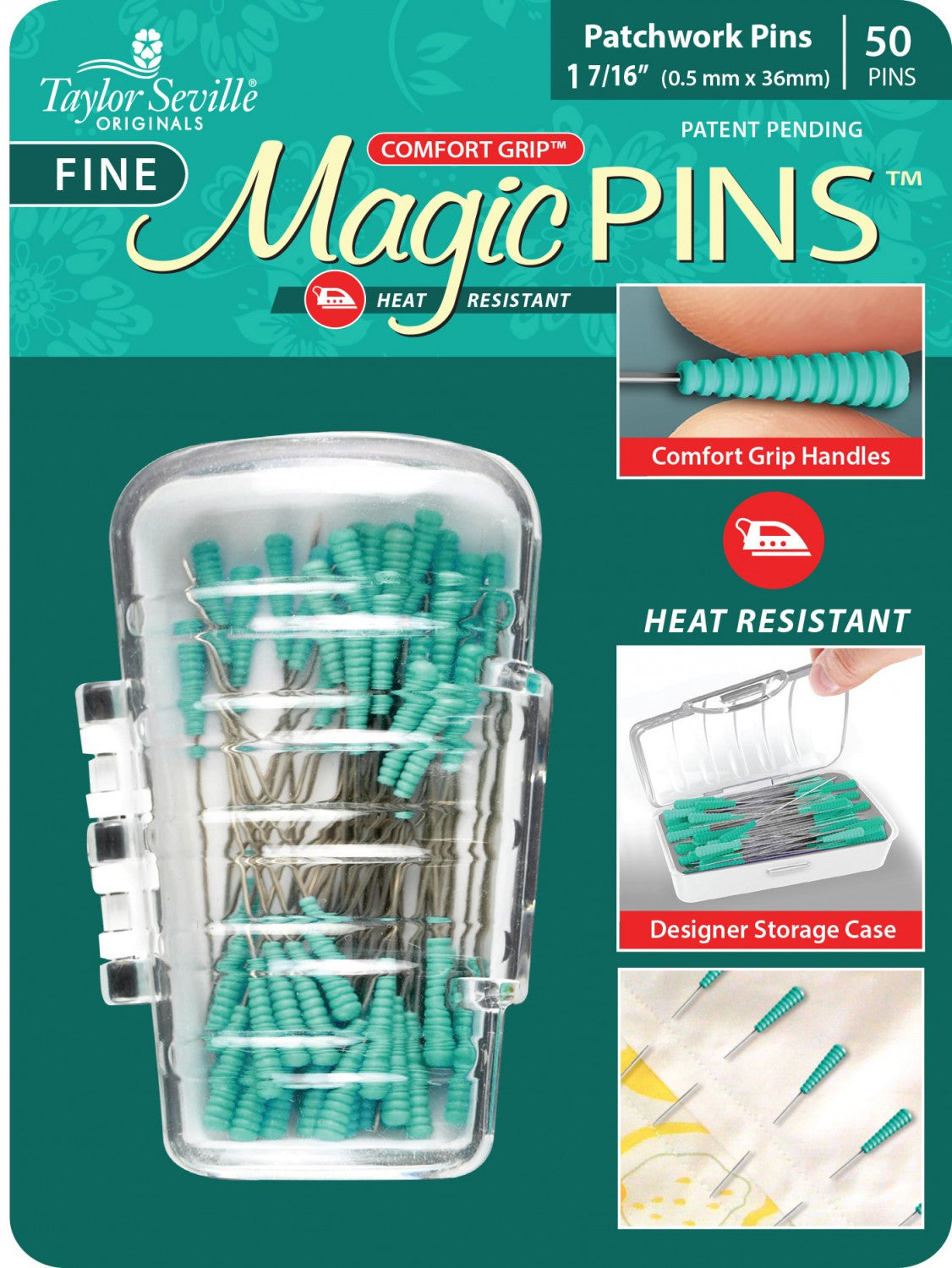 Tailor Mate Magic Fine Pins Patchwork, 50 Count