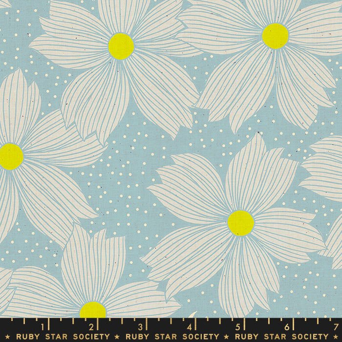 Crescent - Flowers Soft Blue