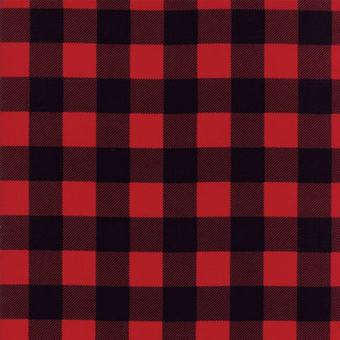 Buffalo Check Flannel - Black/Red