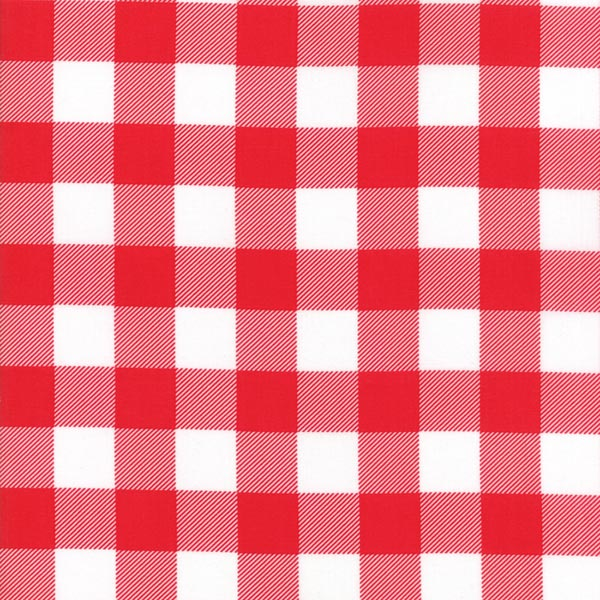 Buffalo Check Flannel - Red/White