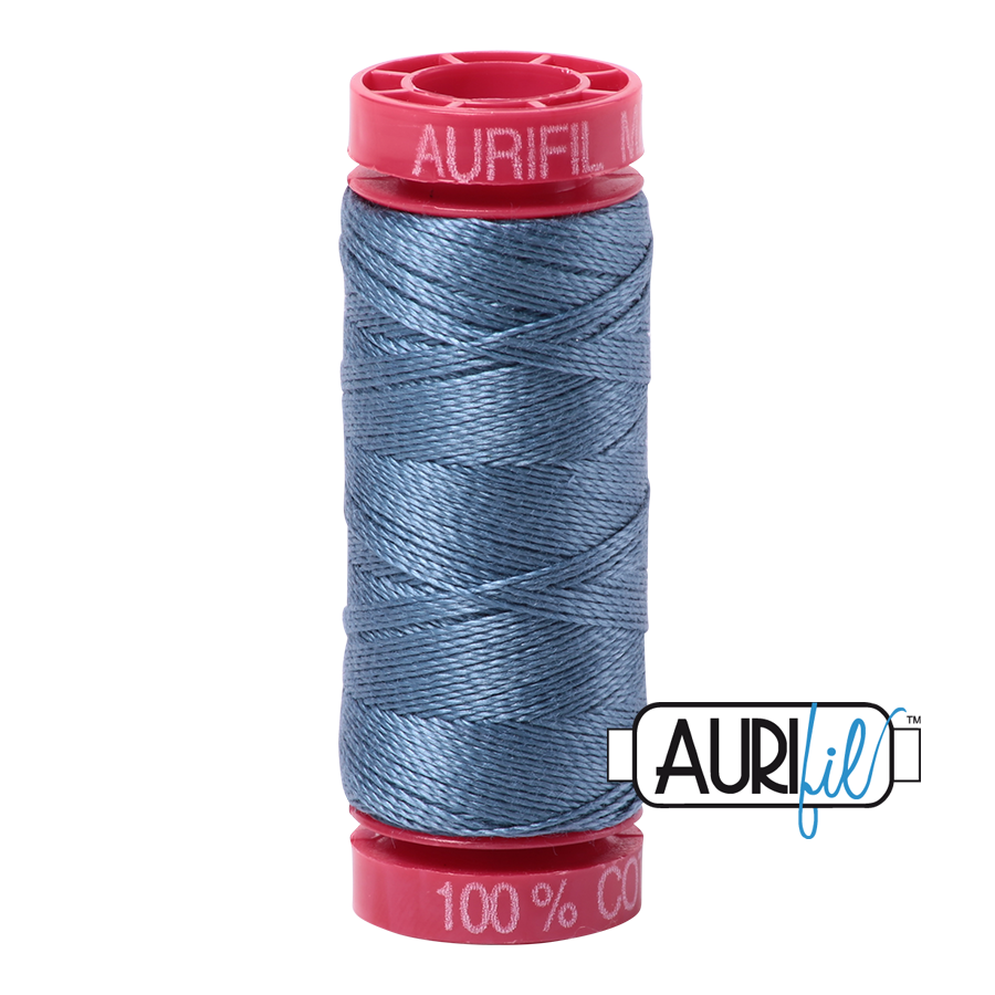 Aurifil 12wt - Blue Grey | Small Spool