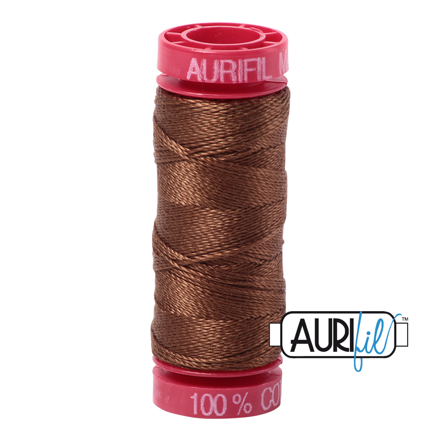 Aurifil 12wt - Dark Antique Gold | Small Spool