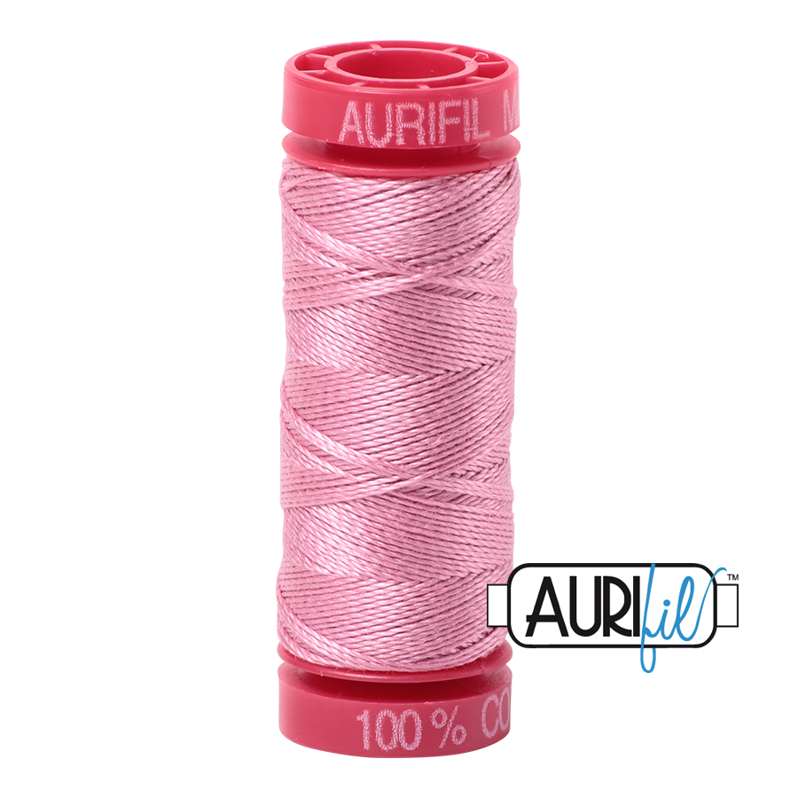 Aurifil 12wt - Antique Rose | Small Spool