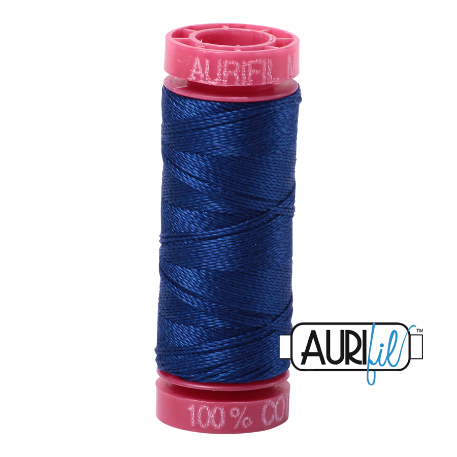 Aurifil 12wt - Dark Delft Blue | Small Spool
