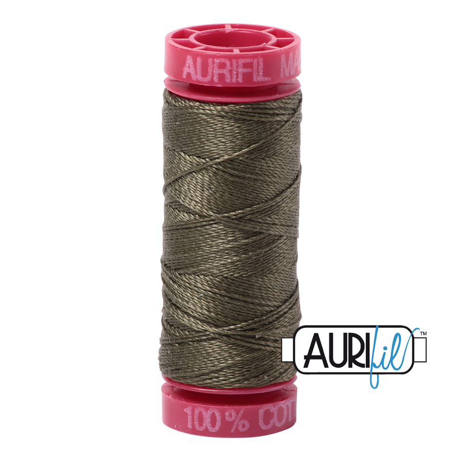 Aurifil 12wt - Army Green | Small Spool