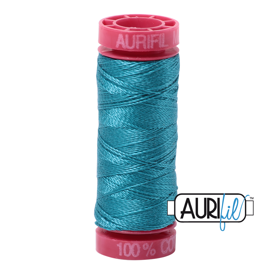 Aurifil 12wt - Dark Turquoise | Small Spool