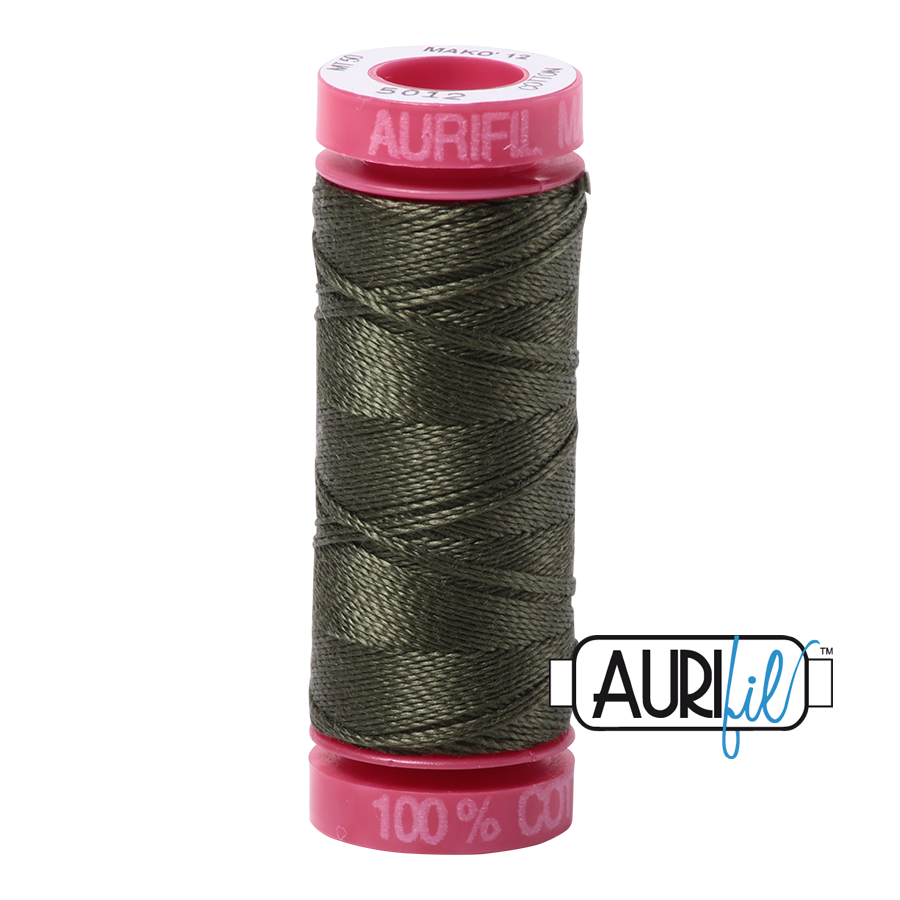 Aurifil 12wt - Dark Green | Small Spool