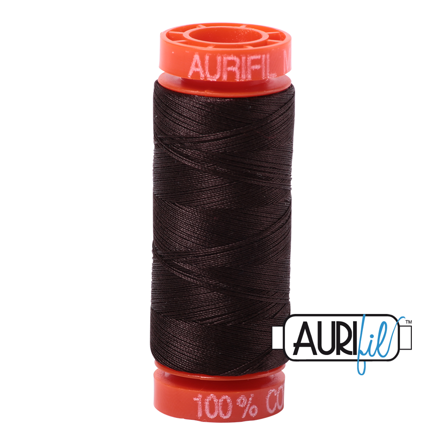 Aurifil 50wt - Very Dark Bark | Small Spool