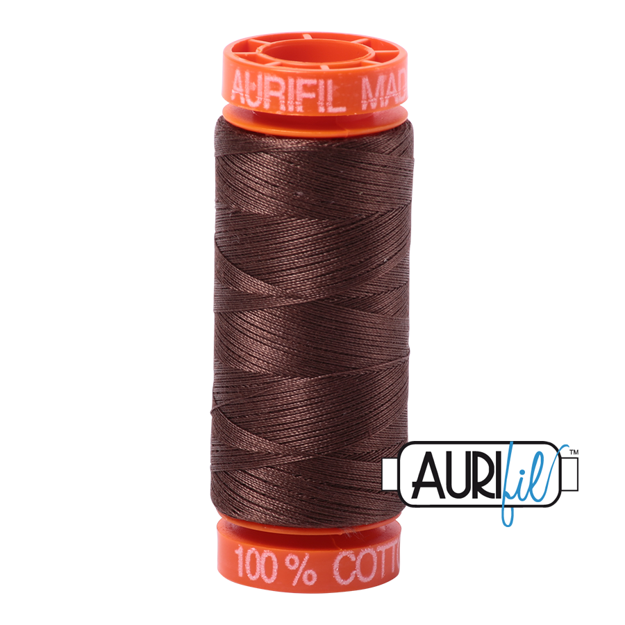 Aurifil 50wt - Medium Bark | Small Spool
