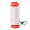 Aurifil 50wt - Chalk | Small Spool