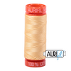 Aurifil 50wt - Meduim Butter | Small Spool