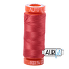 Aurifil 50wt - Dark Red Orange | Small Spool