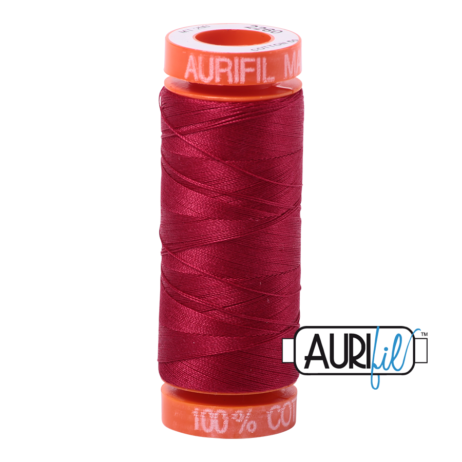 Aurifil 50wt - Red Wine | Small Spool