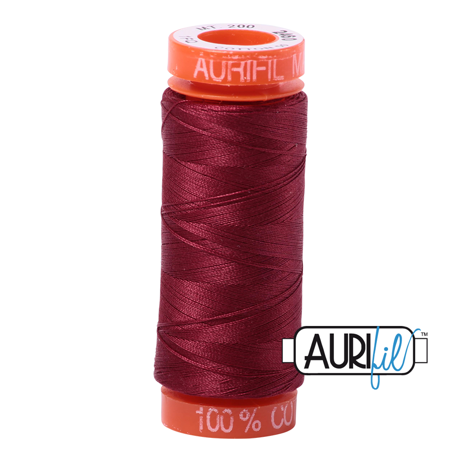 Aurifil 50wt - Dark Carmine | Small Spool