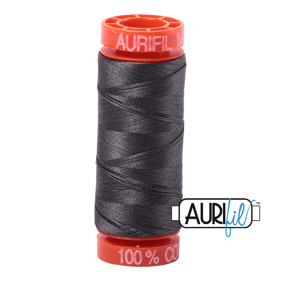 Aurifil 50wt - Dark Pewter | Small Spool