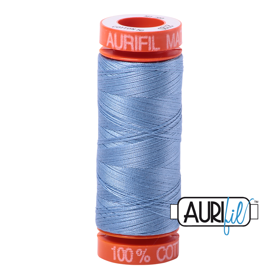 Aurifil 50wt - Light Delft Blue | Small Spool