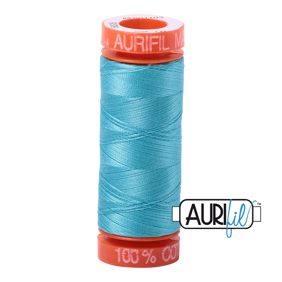 Aurifil 50wt - Bright Turquoise | Small Spool
