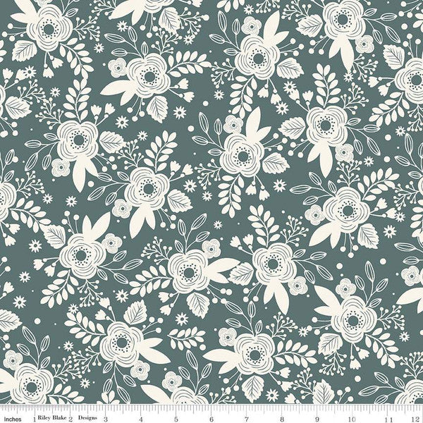 My Heritage - Flowers Teal