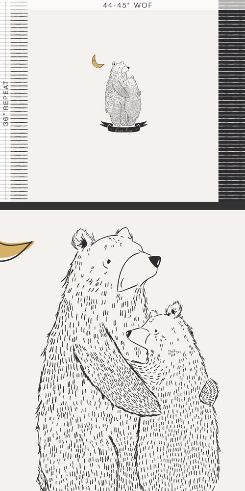Pine Lullaby Rediscovered - Bear Hug Panel