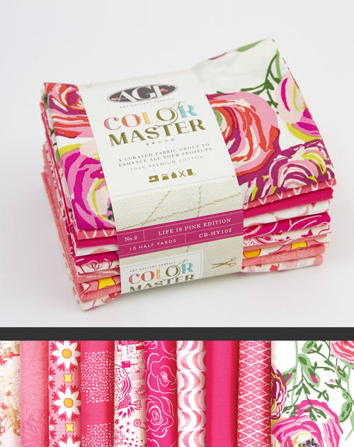 Color Master Bundle - Life Is Pink | Half Yard