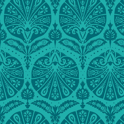 Decadence - Coquille Damask Teal