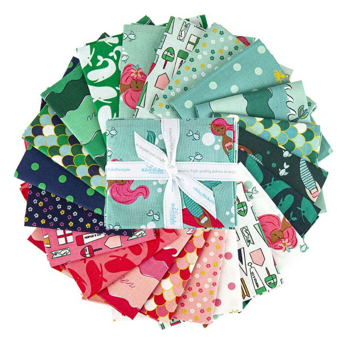 Ahoy! Mermaids - Fat Quarter Bundle