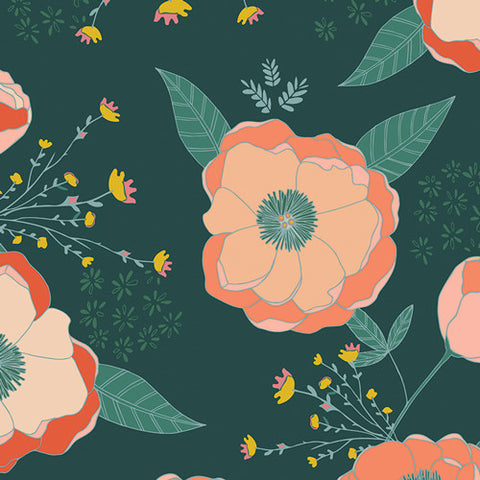 Garden Dreamer - Sprinkled Peonies Fresh - Thread Count Fabrics - Art Gallery Fabrics