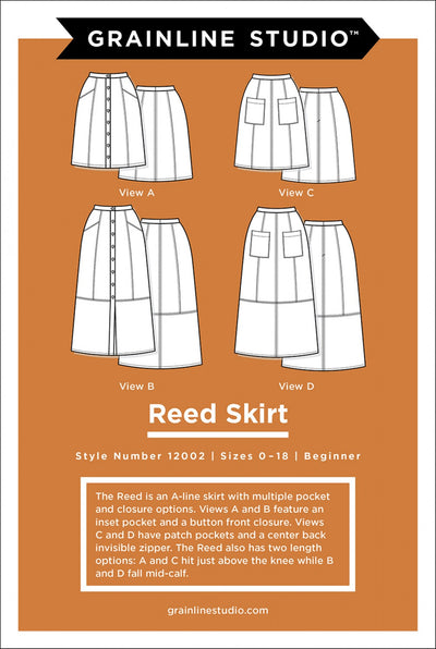 Reed Skirt Sizes 0-18