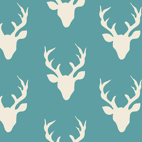 Hello, Bear - Buck Forest Lake - Thread Count Fabrics - Art Gallery Fabrics