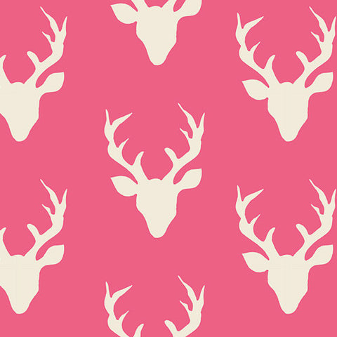 Hello, Bear - Buck Forest Camellia - Thread Count Fabrics - Art Gallery Fabrics