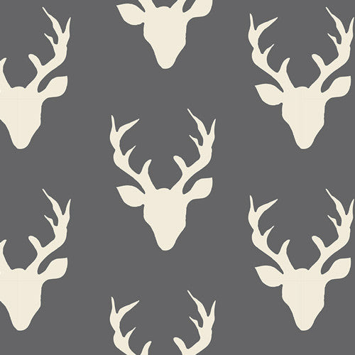 Hello, Bear - Buck Forest Moonstone Knit - Thread Count Fabrics - Art Gallery Fabrics