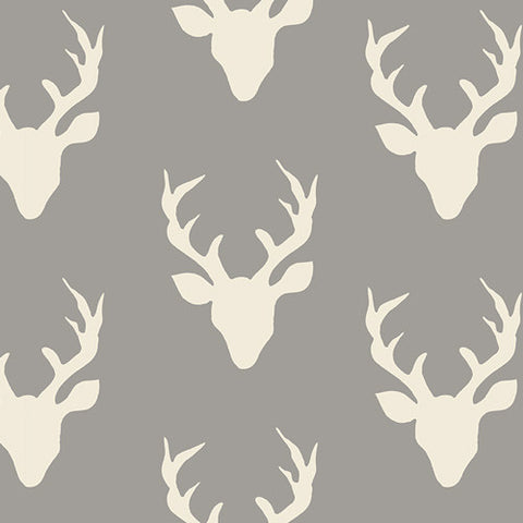 Hello, Bear - Buck Forest Mist - Thread Count Fabrics - Art Gallery Fabrics