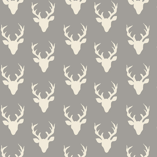 Hello, Bear - Tiny Buck Forest Mist Knit - Thread Count Fabrics - Art Gallery Fabrics