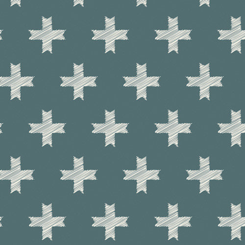 Heartland - Unn Cross Pine in Knit - Thread Count Fabrics - Art Gallery Fabrics