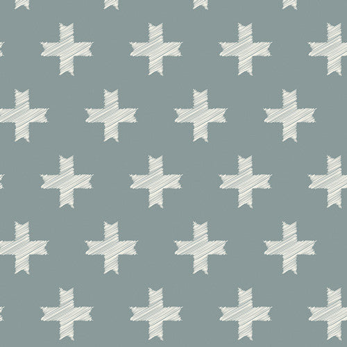 Heartland - Unn Cross Silver - Thread Count Fabrics - Art Gallery Fabrics