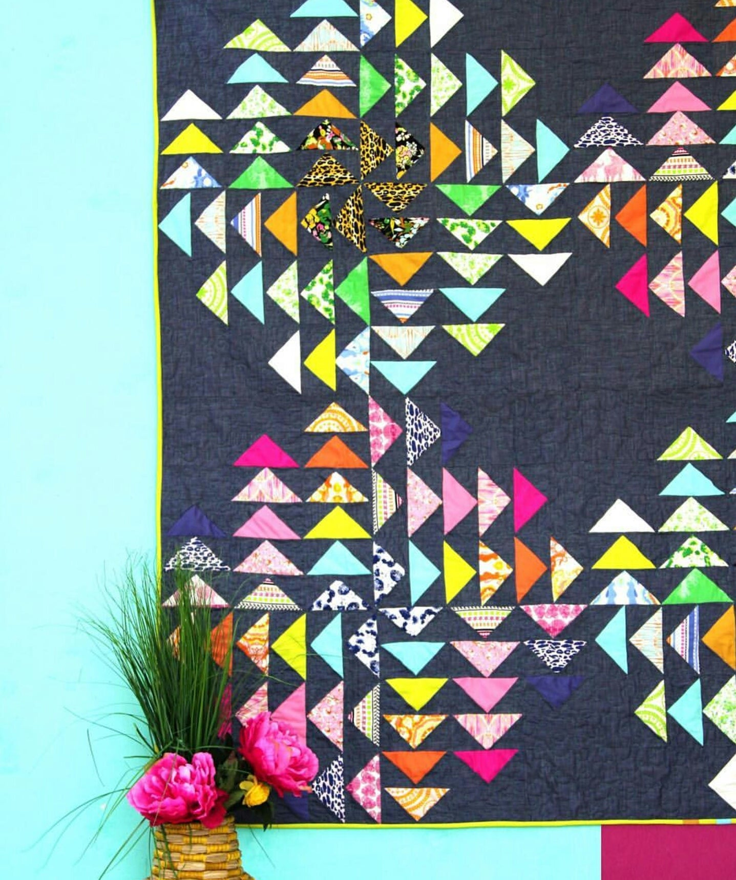Indigo & Aster -  Flying Colors Quilt Kit