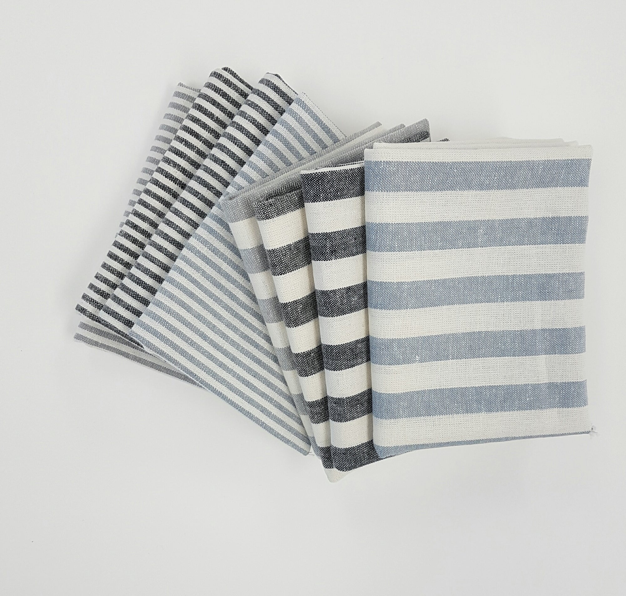 Essex Stripe - Fat Quarter Bundle | Linen Blend