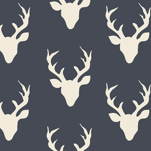Hello, Bear - Buck Forest Twilight Knit - Thread Count Fabrics - Art Gallery Fabrics