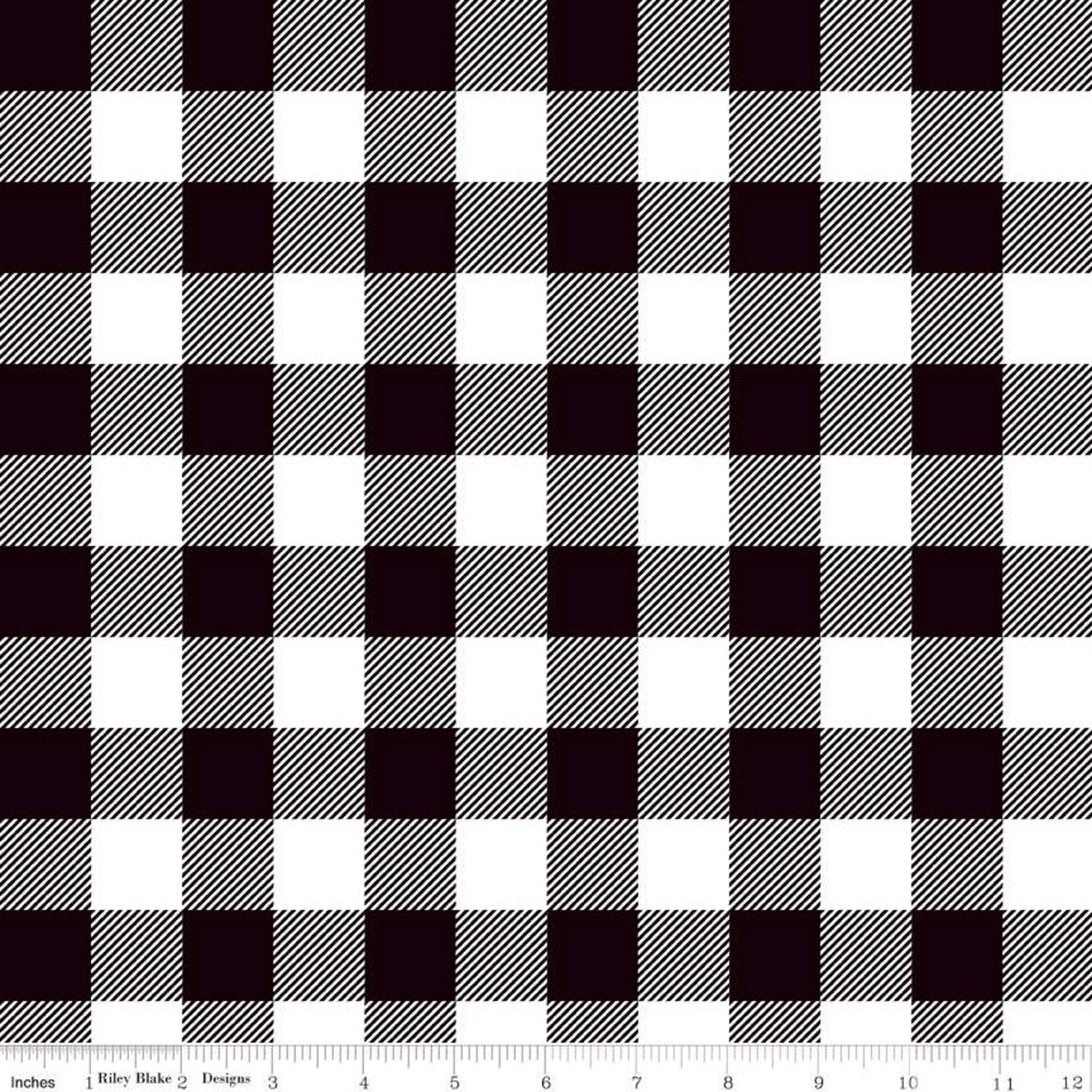 Riley Blake - Lumberjack Plaid Black | Knit