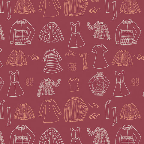 Little Clementine - Papercut Wardrobe Crimson
