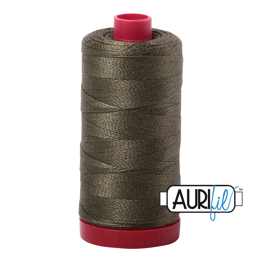 Aurifil 12wt - Army Green