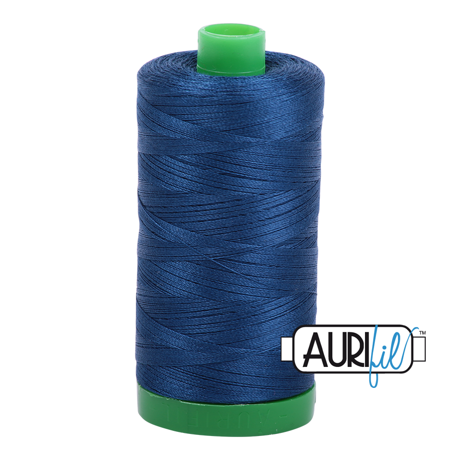 Aurifil 40wt - Medium Delft Blue