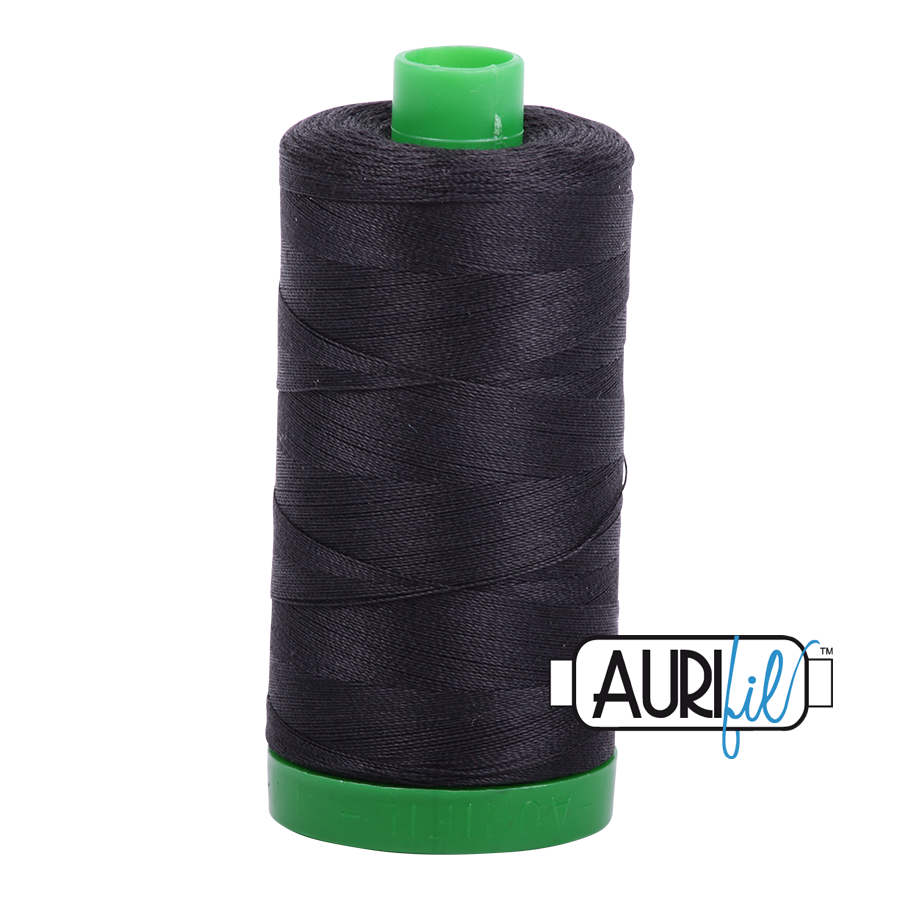 Aurifil 40wt - Very Dark Grey