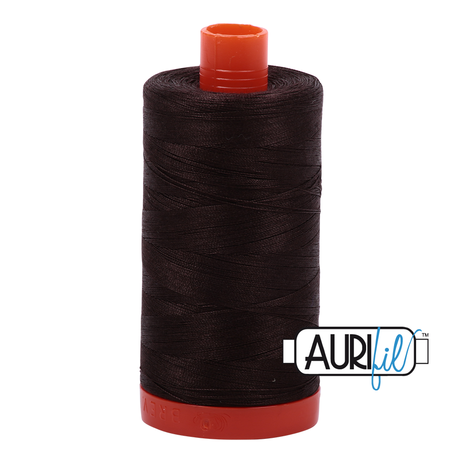 Aurifil 50wt - Very Dark Bark